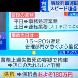 【台湾特急脱線】速度計を見ずに目測で運転 制限80を140キロまで加速 運転士「ATP切った」★3