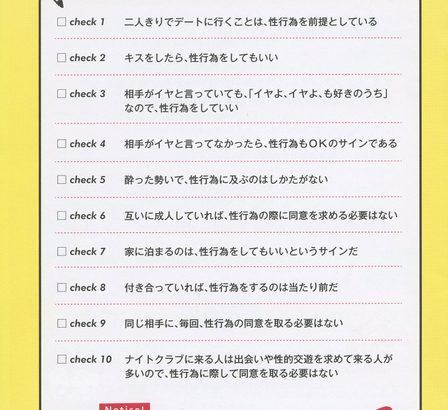 【朝日新聞】セックスの同意、確認してますか 学生らが冊子作成