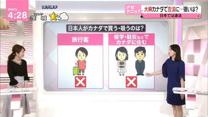 日テレ「カナダ在住でも日本人なら大麻禁止です!」
