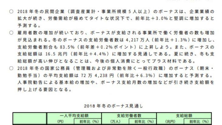 【アベノミクス】冬のボーナス 過去最高更新か 95万円超 業績好調背景に (東証1部上場500人以上の企業75社)★2