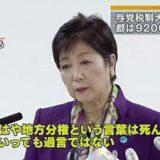 【小池知事】「地方分権は死んだ」 東京都の9200億円が地方へ 都民一人当たり3万円 税制大綱決定に怒りあらわ★2