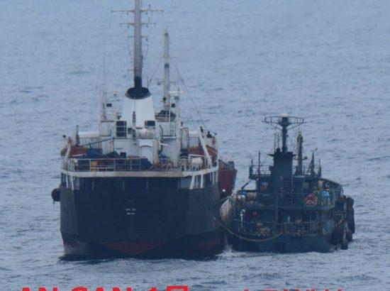 【瀬取りっく】防衛省発表 1月18日、北朝鮮船タンカーと船籍不明の小型船が横付けしてること確認 瀬取りの疑いあり ★5