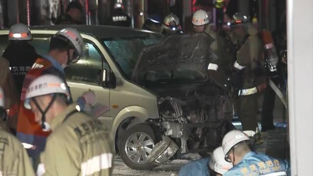 【東京】原宿 竹下通り 車暴走 歩行者はね8人けが 車の男の身柄確保